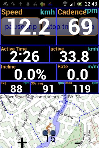 IpBike ANT+™ Bike Computer  screenshots 1