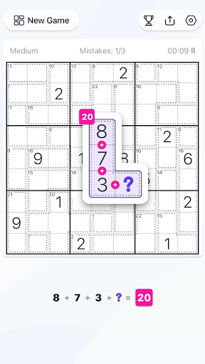 Killer Sudoku - Free Sudoku Puzzle, Brain Games  screenshots 3