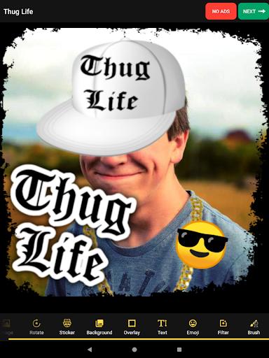 Thug Life Stickers: Pics Editor, Photo Maker, Meme android2mod screenshots 6