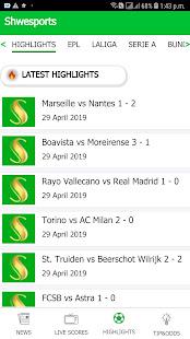 Shwe Sports 2.2.1 Screenshots 1