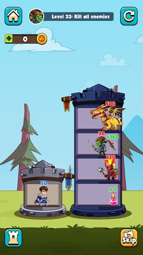 Hero Tower Wars - Math Puzzle 1.5 screenshots 1