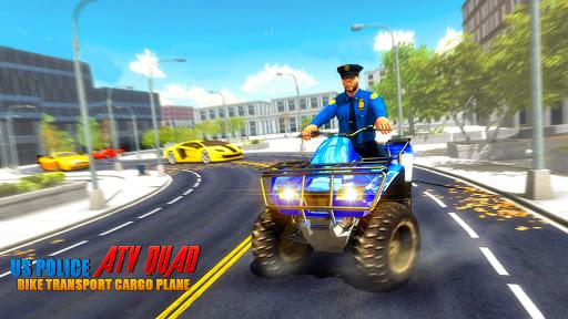 US Police ATV Quad Bike Plane Transport Game 1.4 Screenshots 13