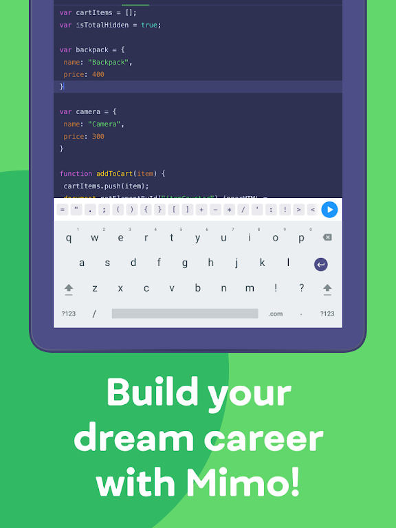 Mimo: Learn coding in HTML, JavaScript, Python poster 20