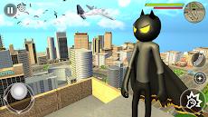 Bat Rope Hero Stickman Crime - Gangster Mafia Gameのおすすめ画像2