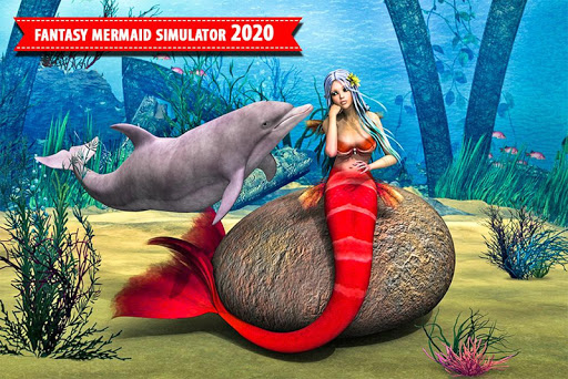 Mermaid Simulator Games: Sea & Beach Adventure android2mod screenshots 9