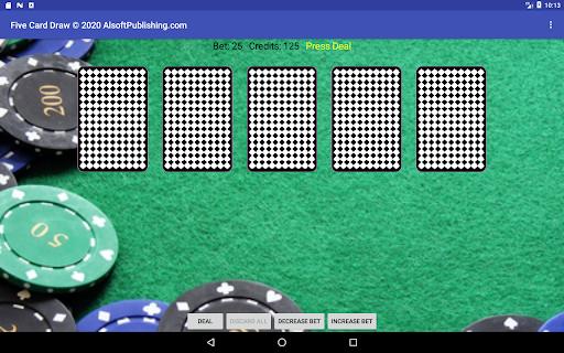 Five Card Draw Poker  screenshots 14