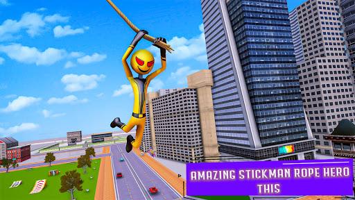Flying Stickman Rope Hero  screenshots 7