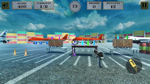 3d bottle shooting gun game screenshot 3
