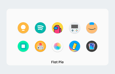 Flat Pie Apk- Icon Pack 5.4 (Paid) Download 2