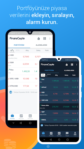 FinansCepte Du00f6viz & Altu0131n Kurlaru0131 - Borsa BitCoin 5.6.7 Screenshots 1
