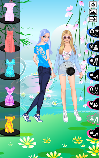 lovely sisters -  sisters dress up game screenshot 3