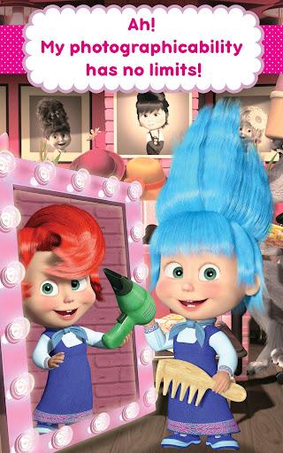 Masha and the Bear: Hair Salon and MakeUp Games apkpoly screenshots 14