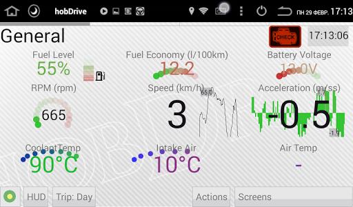 HobDrive OBD2 ELM327, car diagnostics, trip comp 1.6.12 Screenshots 2