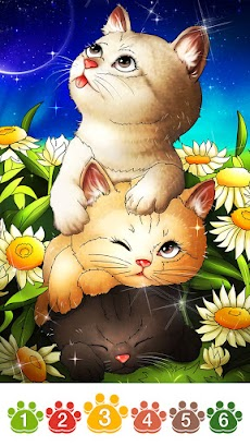 Cat coloring games-Offline paint by numberのおすすめ画像3