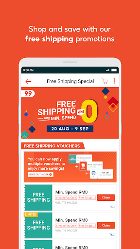 Shopee MY: 9.9 Shopping Day android2mod screenshots 3