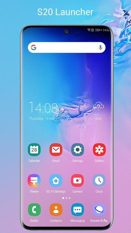 SO S20 Launcher for Galaxy S,S10/S9/S8 Theme  poster 0