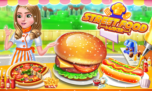 Street Food Pizza Maker - Burger Shop Cooking Game screenshots 6