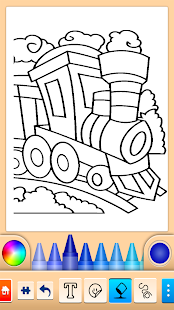 Train game: coloring book for kids