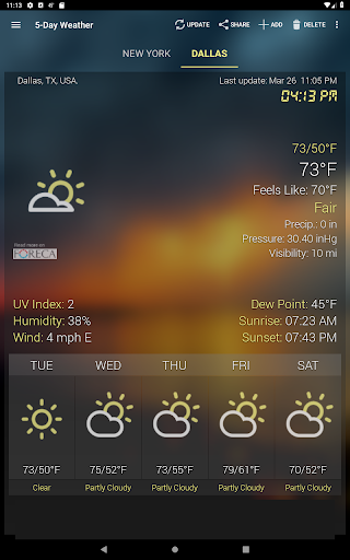 Weather & Clock Widget for Android screenshots 11