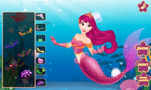 Mermaid Princess Dress Up - Spa, Makeup Salon Game android2mod screenshots 4