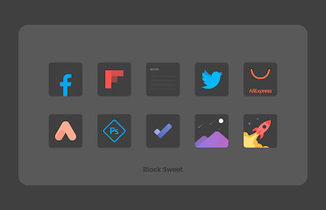 Black Sweet APK- Icon Pack (PAID) Download Latest Version 4