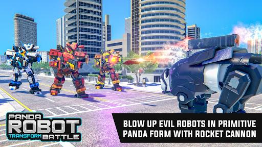 Police Panda Robot Car Transform: Flying Car Games  screenshots 15