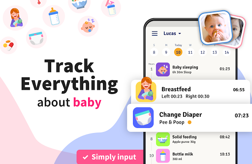 Baby Tracker, Feeding, Diaper Changing for Newborn 1.0.10 Screenshots 2