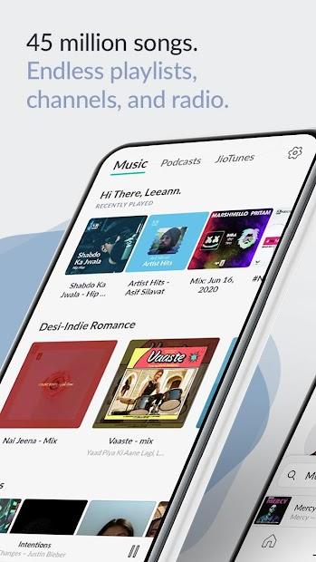 Captura 2 de JioSaavn Music & Radio – JioTunes, Podcasts, Songs para android
