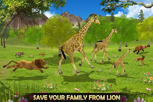 Giraffe Family Life Jungle Simulator apktram screenshots 9