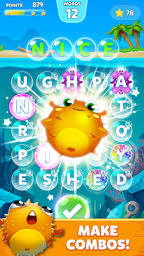 Bubble Words - Word Games Puzzle 1.4.1 screenshots 3