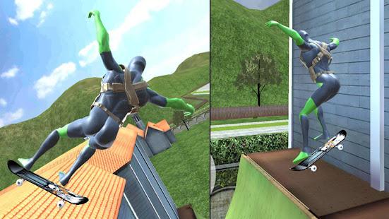 Rope Frog Ninja Hero - L'étrange gangster de Vegas screenshots apk mod 5