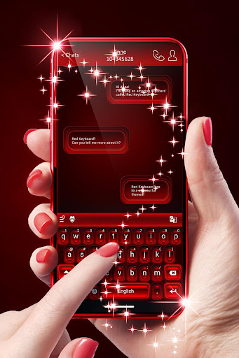 Red Keyboard For Android 1.288.1.33 screenshots 1