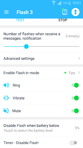 Flash notification on Call & all messages 10.3 Screenshots 5