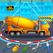 Preschool Kids Builder Truck Transport Repair Game