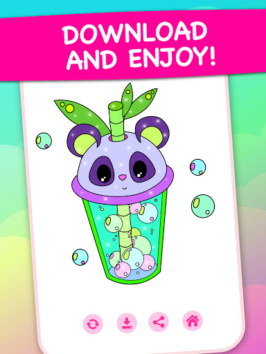Magic Color - kids coloring book by numbers apkpoly screenshots 15