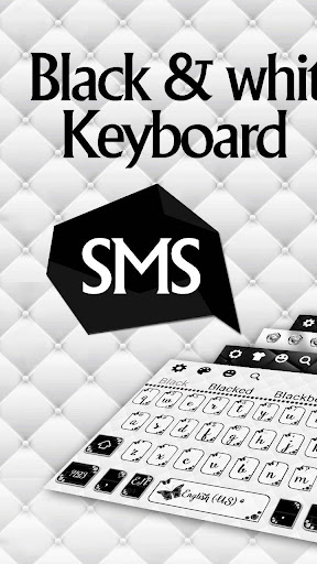 sms black white keyboard screenshot 1