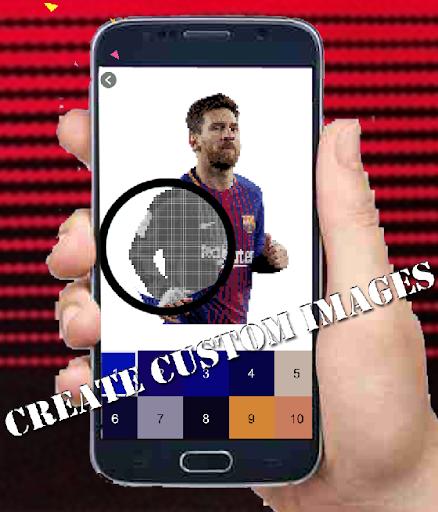Code Triche Football Players Color By Number-Pixel Art 2021 (Astuce) APK MOD screenshots 3