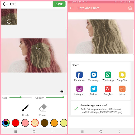 Hair color changer - Try different hair colors 1.10 Screenshots 2