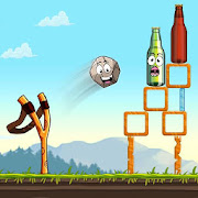 Slingshot Shooting Games: Bottle Shoot Free Games
