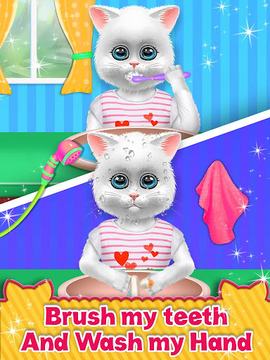 Cute Kitty Cat Care - Pet Daycare Activities Game android2mod screenshots 3