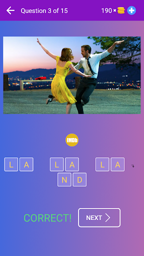 Guess the Movie from Picture or Poster u2014 Quiz Game 4.10 screenshots 2