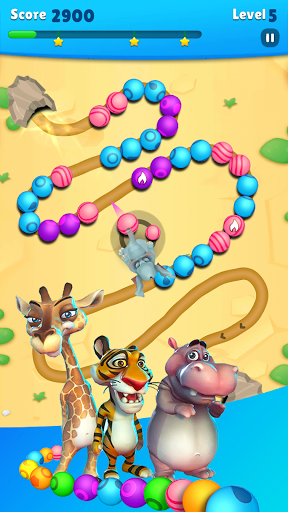 Marble Wild Friends - Shoot & Blast Marbles apkmr screenshots 3