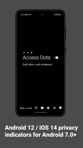 Access Dots - Android 12/iOS 14 privacy indicators screenshots 1