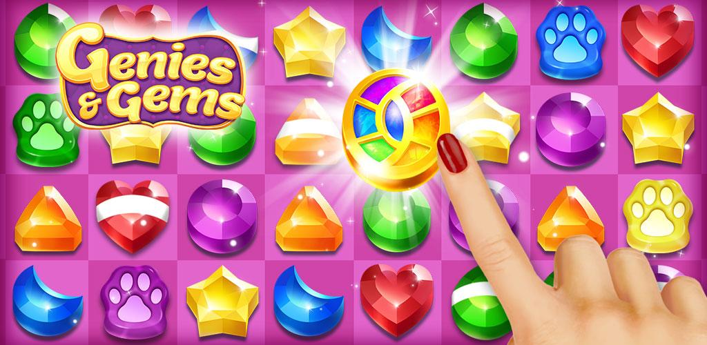 Genies & Gems - Match 3 Game poster 0