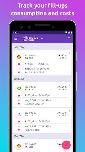 Fuelio: gas log, costs, car management, GPS routes  screenshots 3