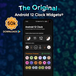 Android 12 Clock Widgets 4.0