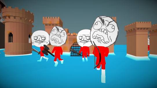 Stickman Meme Warrior Rage Simulator Hack Game Android & iOS 1