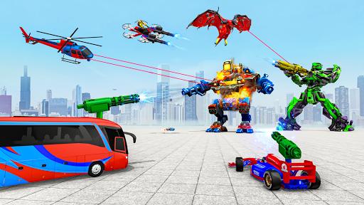 Multi Robot Car Transform Bat: Bus Robot Games 1.4 Screenshots 6