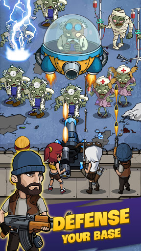 Zombie War: Idle Defense Game apkslow screenshots 10