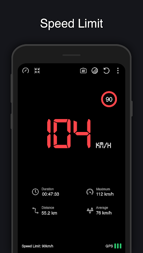 GPS Speedometer: Speed Tracker, HUD, Odometer 7.8 Screenshots 2